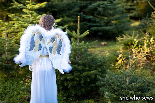 White Angel and green trees