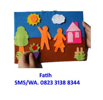 Mainan Anak Flanel Playboard Di Kebun