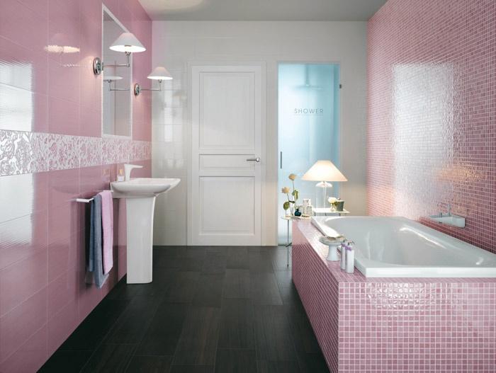 20 fotos de casas de banho em cor de rosa decora o e ideias - Cortinas ducha primark ...