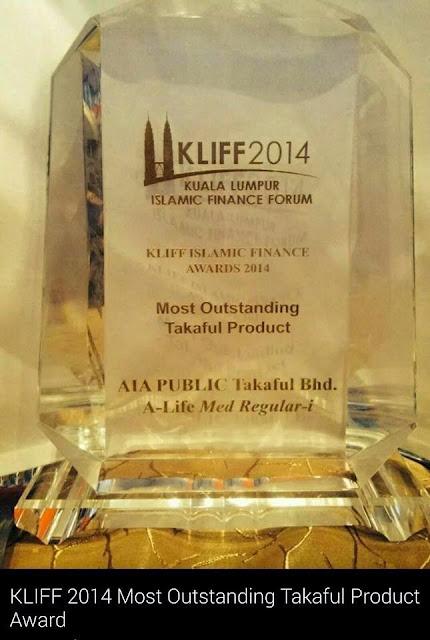 Award KLIFF 2014 untuk Produk Takaful AIA Public Takaful Terbaik