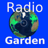 Explore live radio by rotating the globe