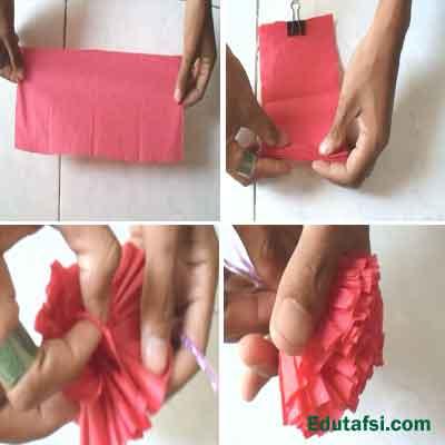 DIY Bunga kertas krep