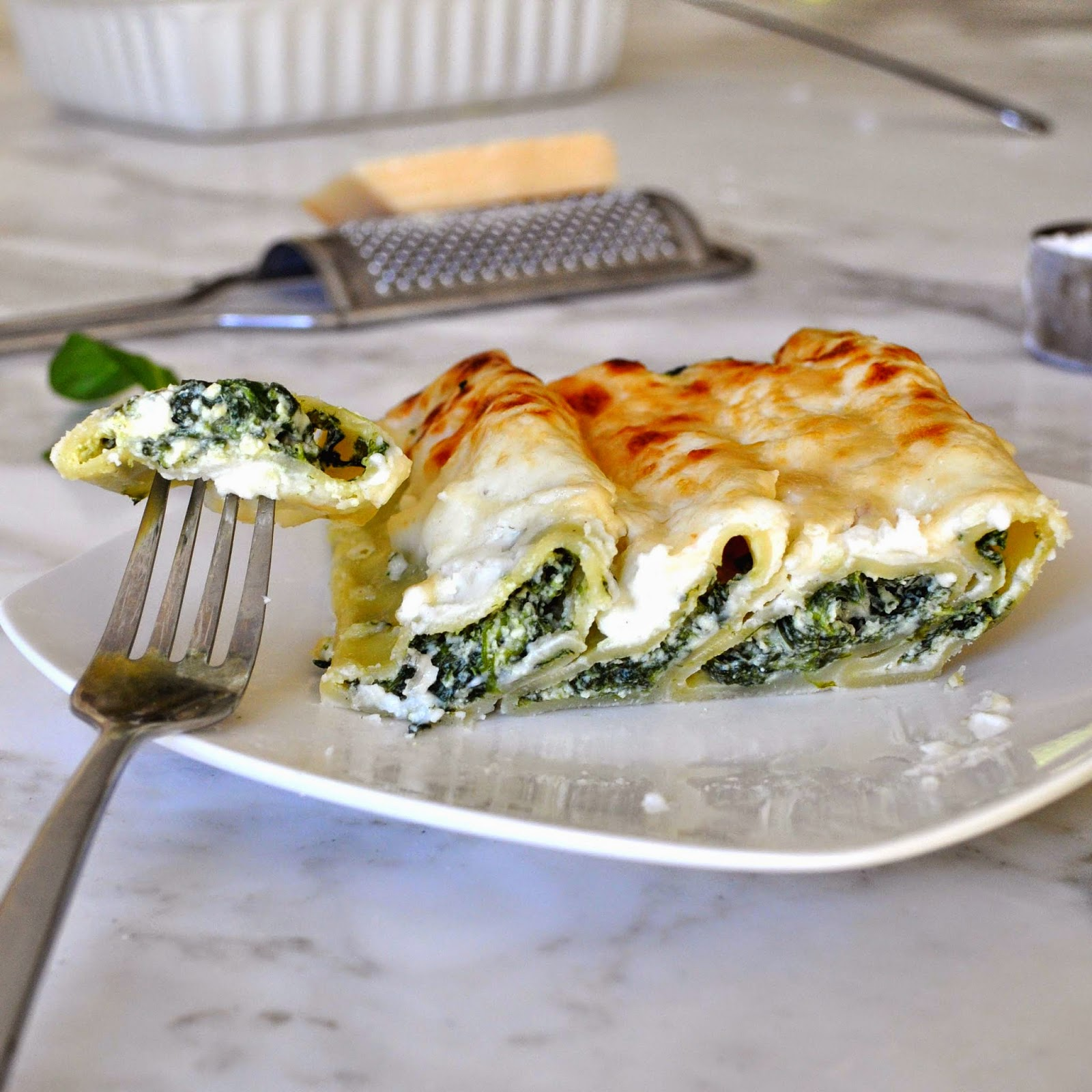 Cooking With Manuela: Cannelloni Pasta With Spinach And