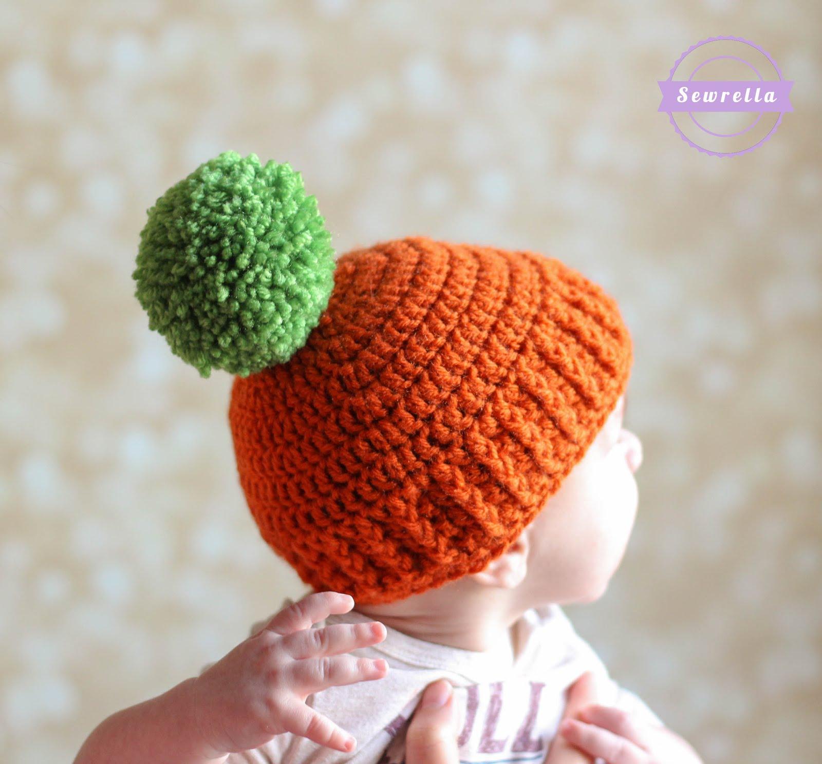 Pumpkin Parker Crochet Hat Sewrella