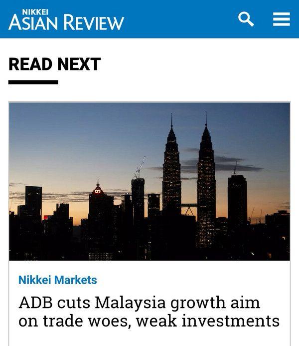 Bank Dunia berterusan turunkan unjuran pertumbuhan ekonomi negara dari 5.4% kepada 4.7%
