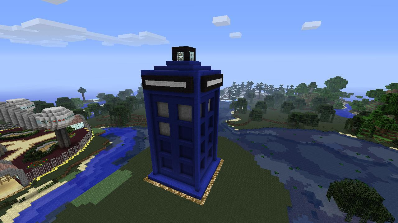 Minecraft 360 Creations: TARDIS