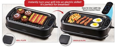 The Power Smokeless Grill adn griddle