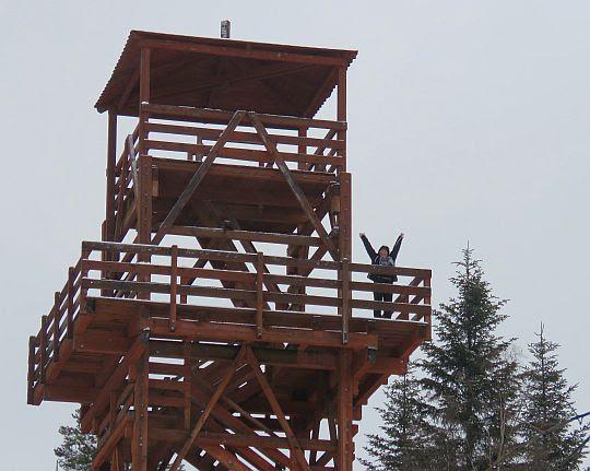 Wieża widokowa na Polczakówce.