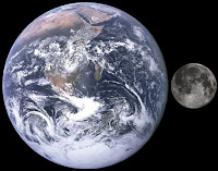 Comparison of the Earth to the Moon