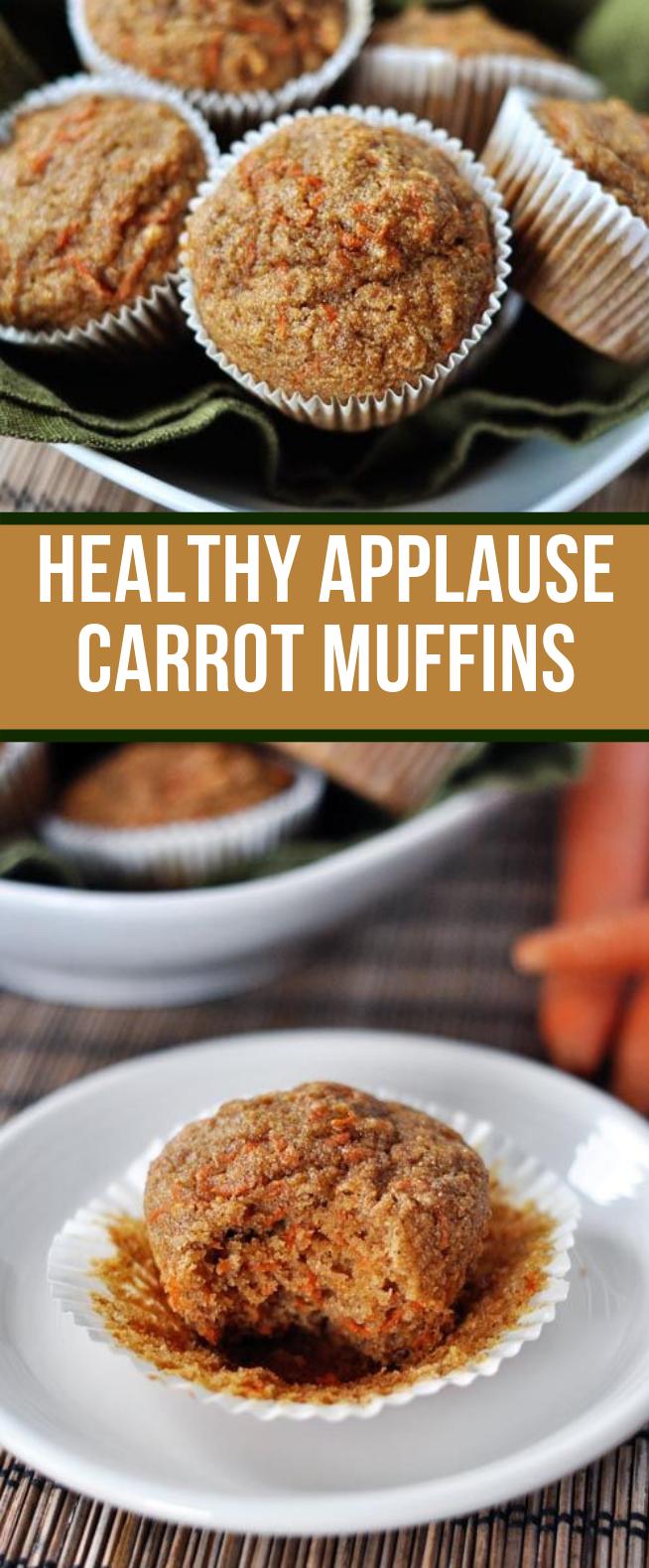 HEALTHY APPLESAUCE CARROT MUFFINS {A.K.A. CARROT CAKE MUFFINS} #Vegetarian #Lowsugar