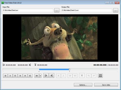 برنامج حذف مقاطع من الفيديو والافلام Free Video Editor
