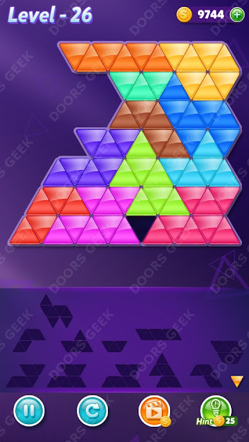 Block! Triangle Puzzle 12 Mania Level 26 Solution, Cheats, Walkthrough for Android, iPhone, iPad and iPod