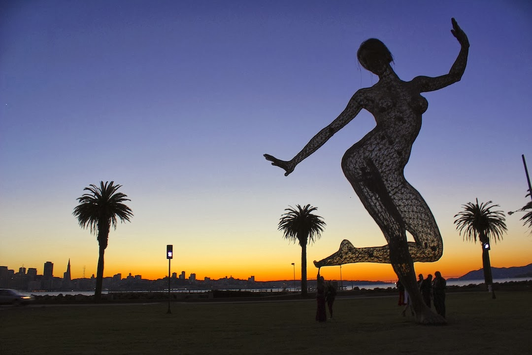 Bliss Dance Sculpture on Treasure Island