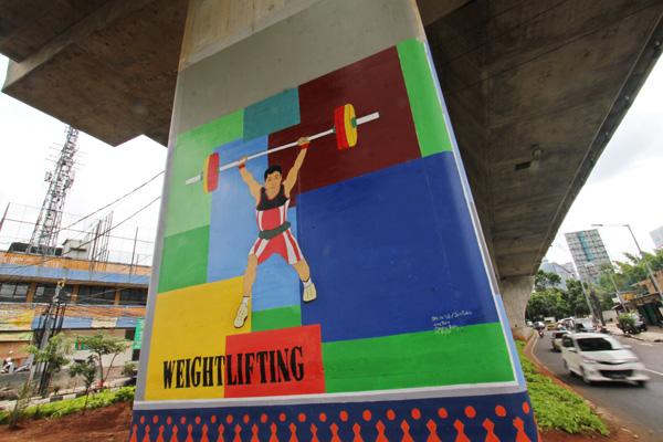 Foto-Foto Mural Asian Games 2018 Di Jakarta dan Palembang - 2
