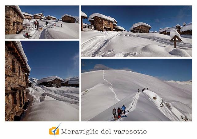 La valle Veddasca con la neve