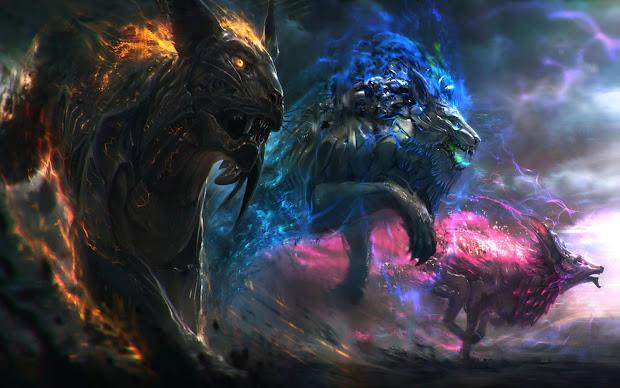 Mythical Animal Art Wallpaper