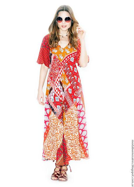 Vestidos primavera verano 2017 estampados Asterisco. Moda 2017.