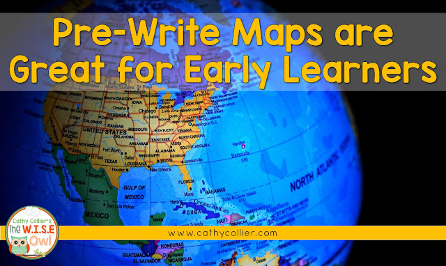 Pre-Write Maps are great for early learners. These tools help students organize their thoughts before they get them to on paper.