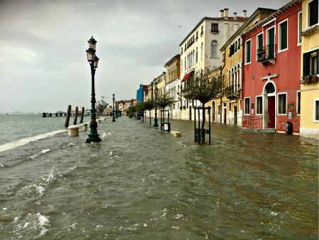 Flooding in Venice, Italy - Photo Cat Bauer - Venice Blog