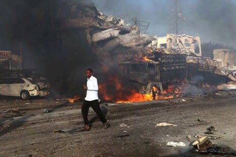 Death Toll in Somalia Truck Bombing rises to at least 300