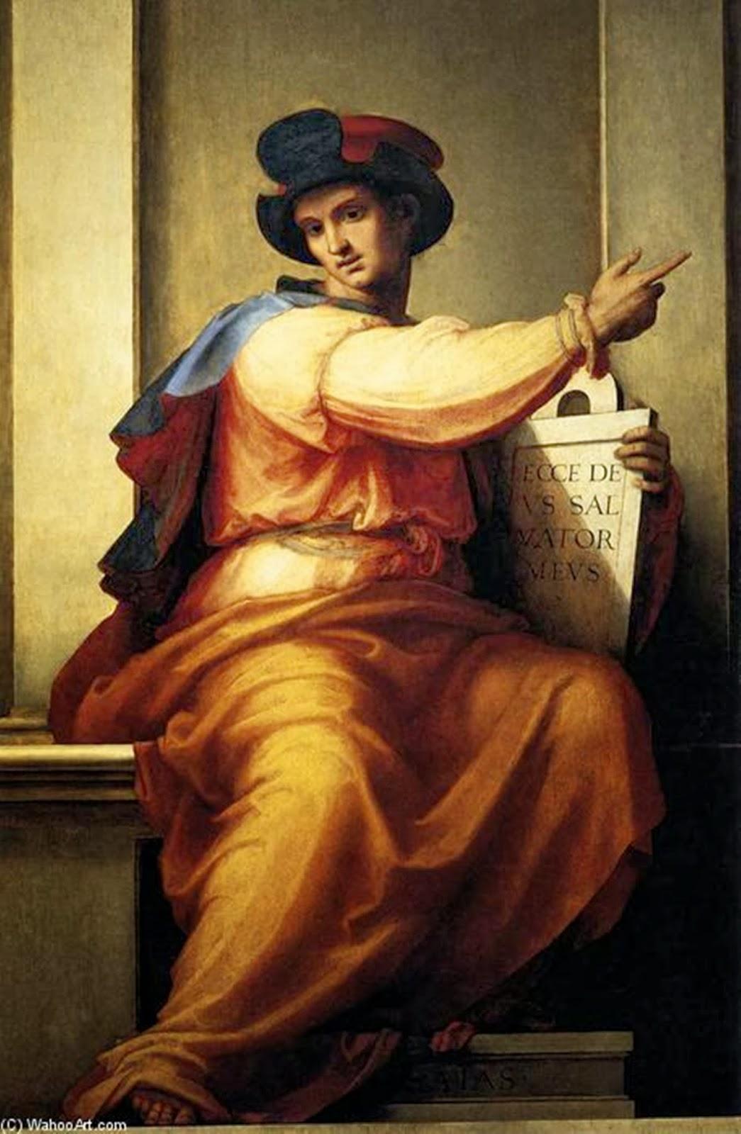 Profeta Isaías, pintura de Fra Bartolomeo. Embora bela, a arte renascentista não retratou a cultura hebraica com fidelidade. Isaías com certeza tinha barba