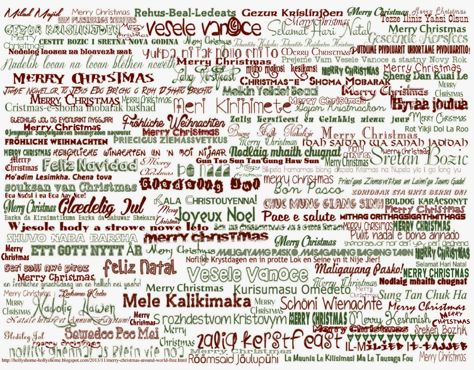 merry christmas around the world lyrics