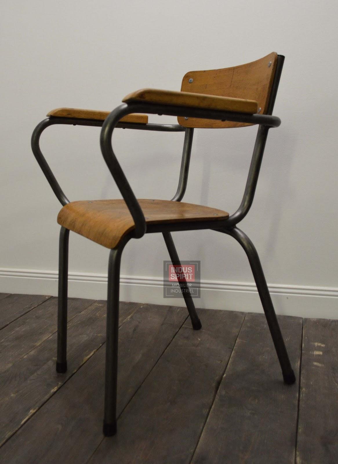 Chaise de bureau vintage - Chaise bureau industriel ...