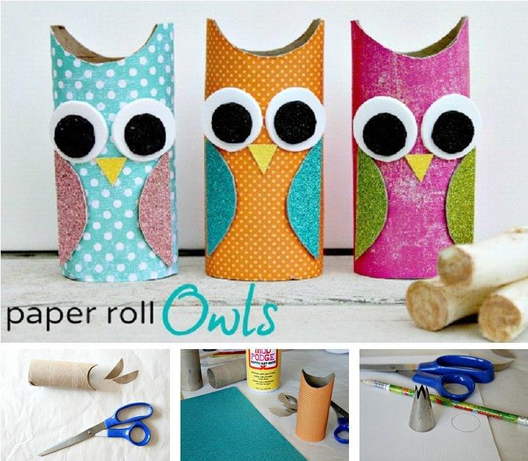 Crafts Made From Paper Towel Rolls: Carta & Carta: Fai Da Te I Gufi Con I Rotoli Di Carta Igienica