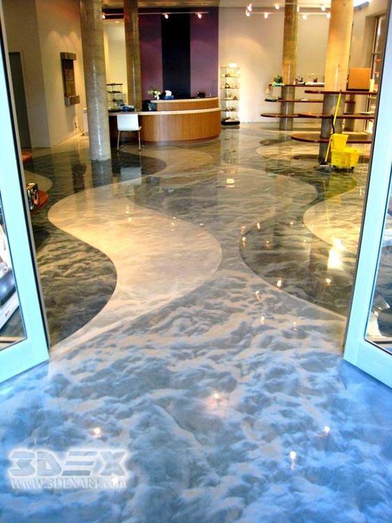 3D Epoxy Floor Coating For Restaurant