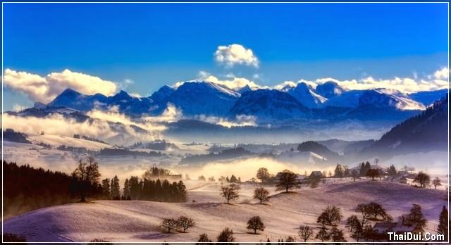 ảnh phong cảnh mùa đông đẹp