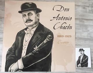 L'affiche imprimée et son original juste à coté. Don Antonio Chacon Cantaor ©Guillaume Néel
