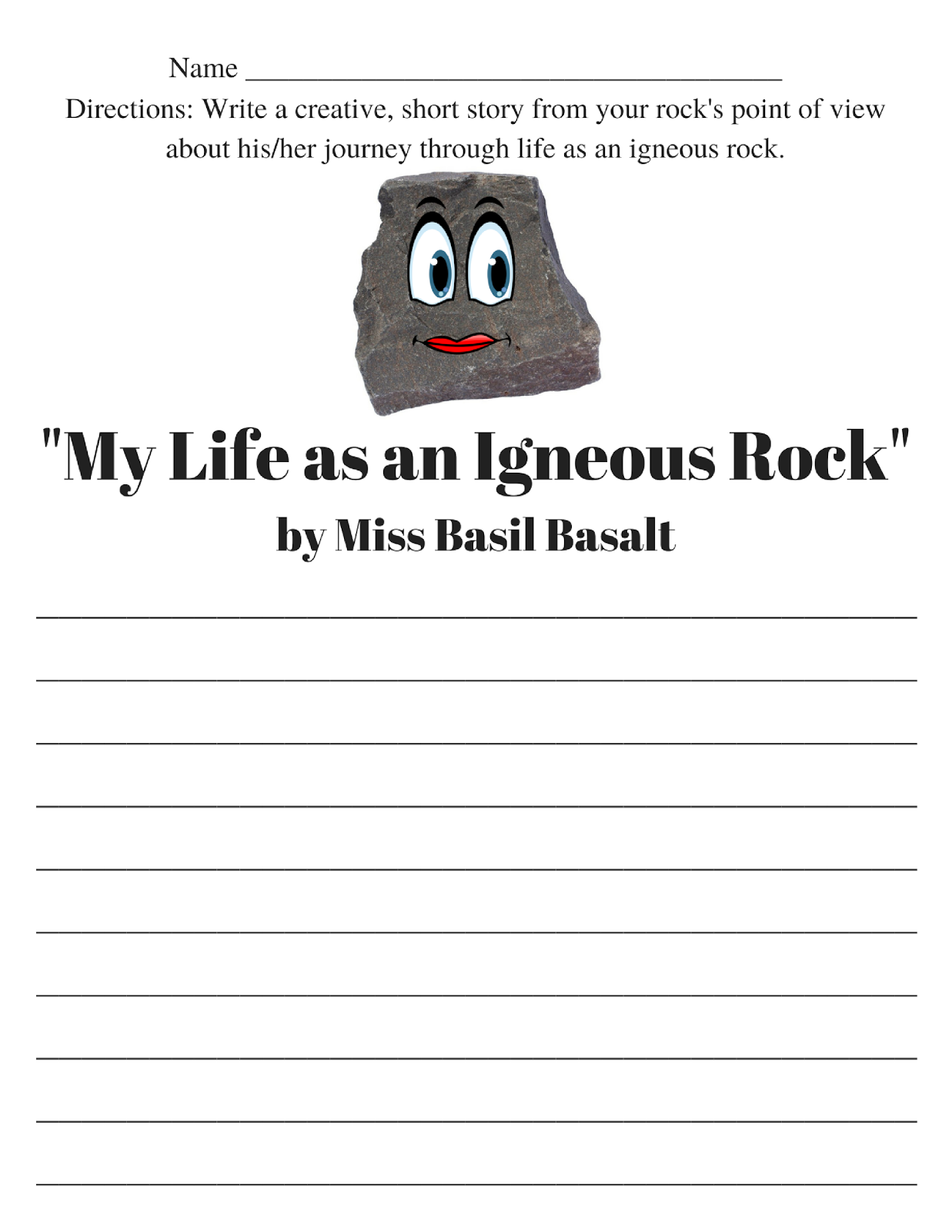 Spark and All Igneous Rocks – Igneous Rocks Worksheet