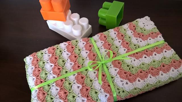 Kocyk dla małej Leny / Baby's blanket for Lena's