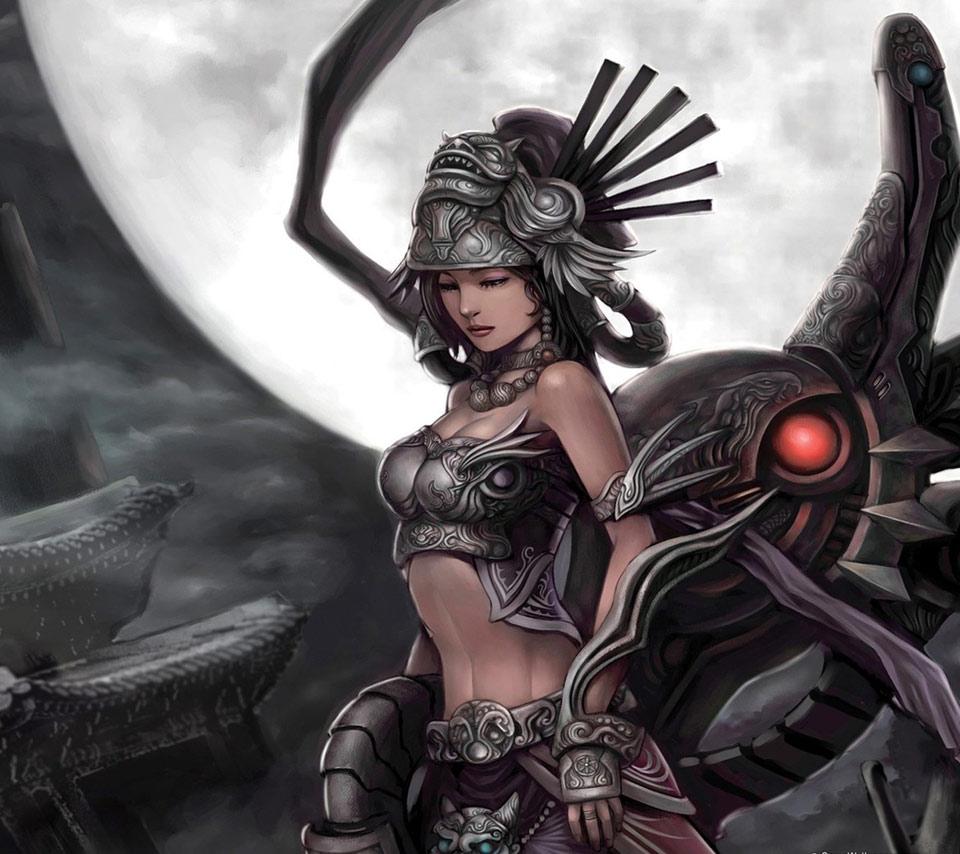 Anime fantasy warrior girl
