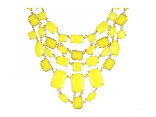 neon sarı taş kolye