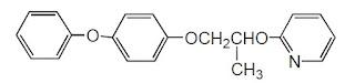 formula estrutural piriproxifeno