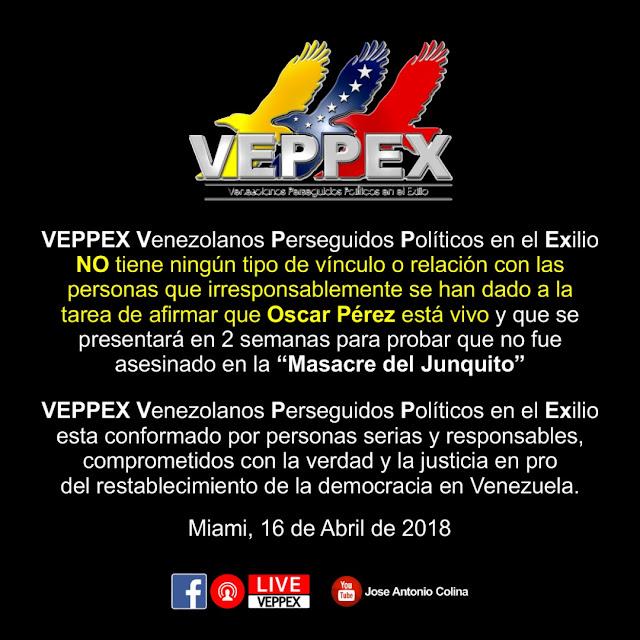 COMUNICADO VEPPEX ABRIL 16, 2018