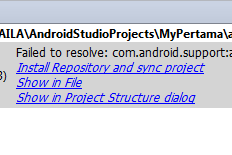 Cara Memperbaiki Failed to resolve: com.android.support:appcompat-v728.+ error:(26, 13)