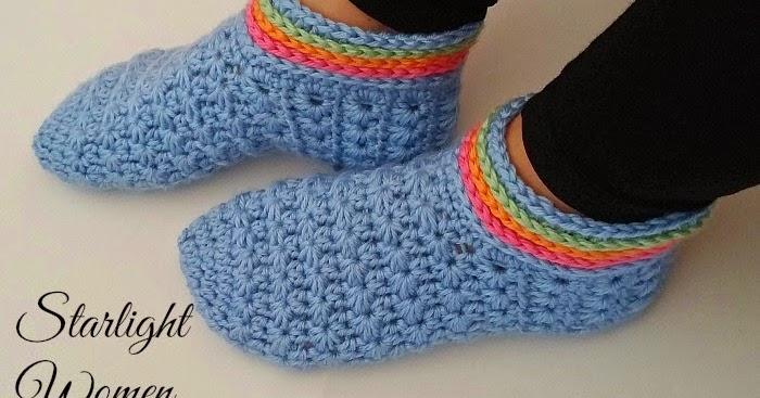 My Hobby Is Crochet Starlight Women Slippers Free Crochet Pattern