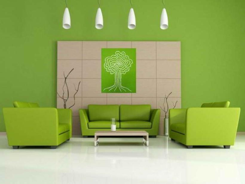 Interior Color Ideas   Relaxing Green Color In The Interior