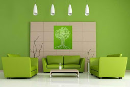 Interior Color Ideas - Relaxing green color in the interior