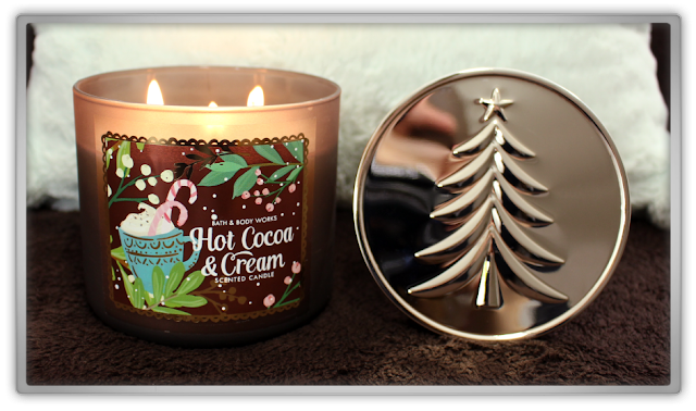 Bath & Body Works Stock Up  Haul and Review hot cocoa & cream 3 wick candle winter christmas candle beauty blog blogger cozy favorites