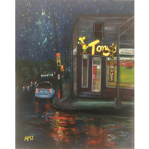 Going on a donair run- Original painting