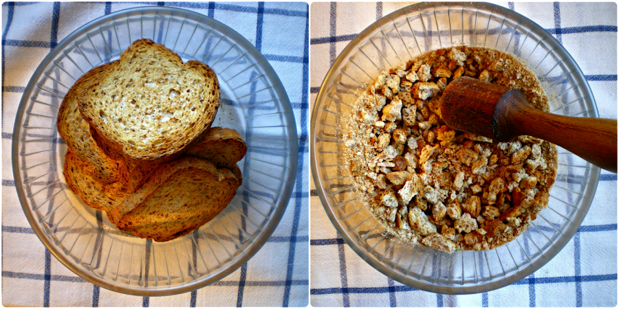 Muffins de pan integral, queso y tomate: Pan tostado para base