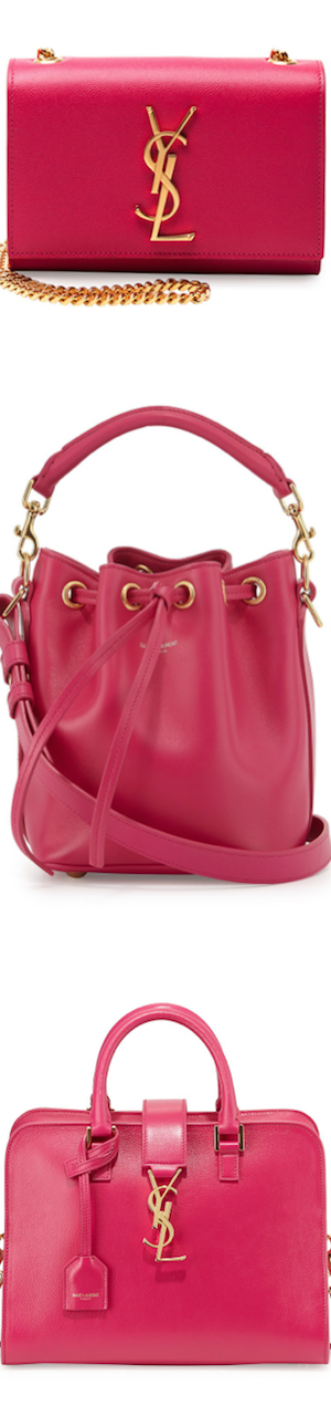 Saint Laurent Pink Handbags