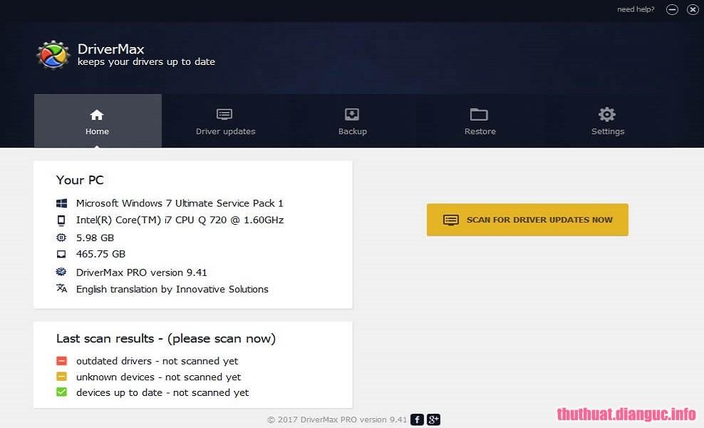 Download DriverMax PRO 10.15.0.23 Full Cr@ck – Phần mềm tự động cập nhật phần cứng máy tính