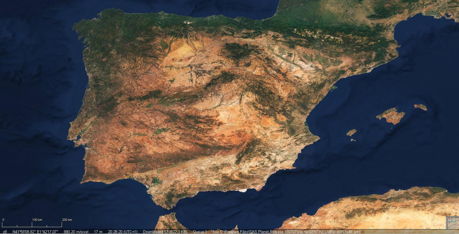 Mapa Satelital De España.Cartografia Digital Sasplanet Revision Enero 2019