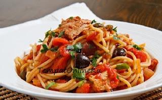 spaghetti saus tuna enak mudah
