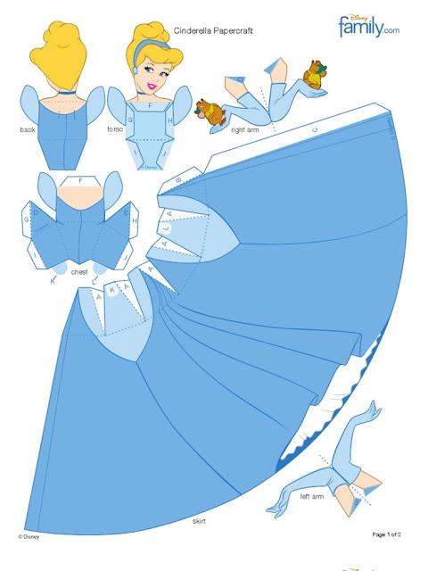 DIY - Disney princess Doll in Paper   Papercraft