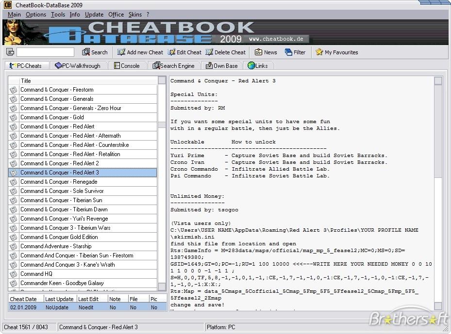 Cheatbook Database 2011 Download